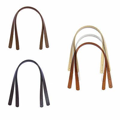 2Pc Handbag Purse Tote Bag PU Leather Handle Strap Handles Replacement Strap