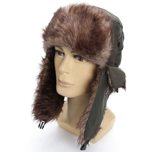 70e231366c0e0 Mens Winter Warm Russian Ushanka Trapper Ski Hat Faux Fur Ear Flaps 5 5 of  11 ...