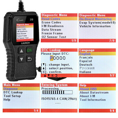 LAUNCH Car Fault Code Reader Engine Diagnostic Scanner Reset Tool OBD2 CAN EOBD 9