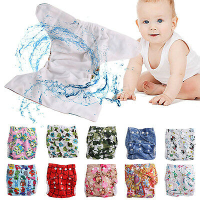 Washable Baby Waterproof Cloth Diaper Cover Cartoon Baby Diapers Reusable Nappy 2