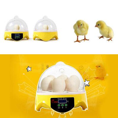 Automatic Mini Incubator 7 Egg Poultry Hatcher Digital Bird Temperature Control 5