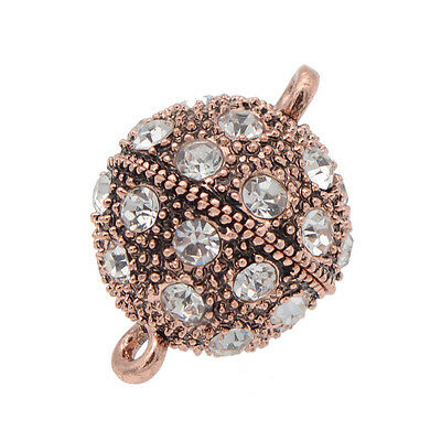 5 Pcs Crystal Rhinestone Pave Round Ball Magnetic Clasp Strong Connector Closure 4