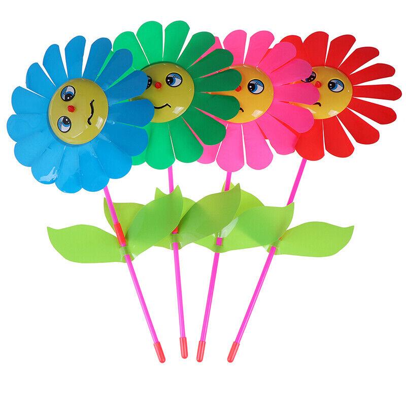 8A20 Sonnenblumen Windmühle Windrad Dekoration Rasen Outdoor Whirligig
