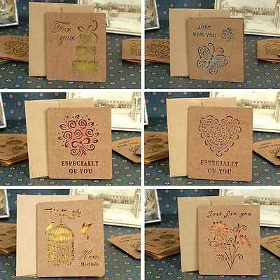 Kraft paper folding greeting cards beautiful cards korean stationery 1 of 6free shipping kraft paper folding greeting cards beautiful cards korean stationery gift card m4hsunfo