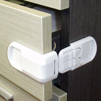 5x Baby Child Cupboard Cabinet Safety Locks Pet Proofing Door Drawer Fridge Kids 4