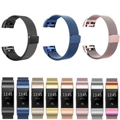 Fitbit Charge 2 3 Armband Edelstahl Ersatzband Nylon Milanese Sport Leder Watch 2