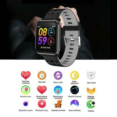 Smart watch Waterproof Blood pressure Heart rate Fitness Trackers Android IOS UK 12
