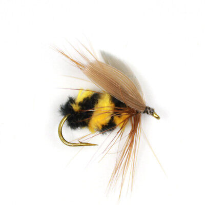 10PCS//Lots Foam Bumble Bee Nymph Trout Flies Fly fishing Hook Bee Ba Bionic W9Y5