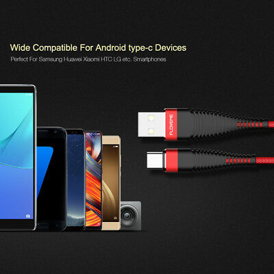 Fast Charging Cable Cord USB-C Type-C 3.1 Nylon Braided Data Sync Charger j-c CA 6