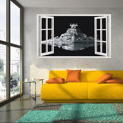 Star Wars Spacecraft Destroyer 3d Window Wall Stickers Kids Art