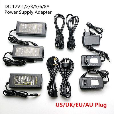 AC110 220V Power Supply Adapter Transformer LED Strip 2A 3A 5A 8A DC 5V 12V 24V 4
