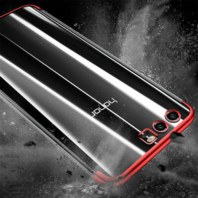 For Huawei Honor 10 9 8 Lite V20 Plating Soft Silicone Hybrid Clear Case Cover 4