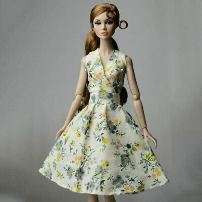Fashion Countryside Floral Dress For 11.5inch Doll Clothes Gown Evening Dresses 6