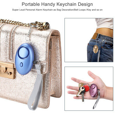 130DB Safe Sound Personal Alarm Self-Defense Keychain Siren With LED Light 6