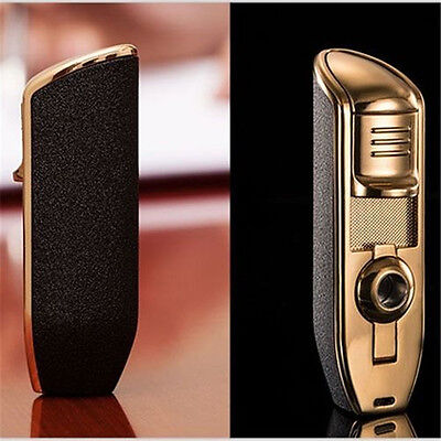 Classic Torch Windproof Triple Jet Flame Refillable Butane Cigar Torch Lighter 4