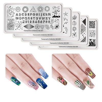 BORN PRETTY Nail Image Stamping Plates Nail Art Stamp Stencil Template Summer 6