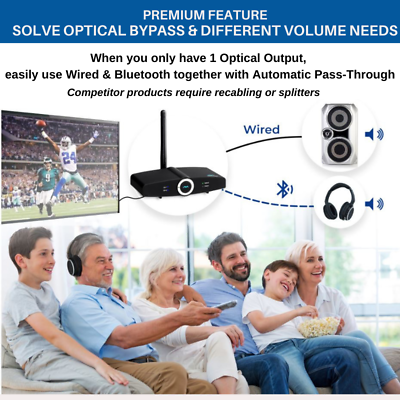 Miccus Bluetooth Range Extender Booster Transmitter For Tv Pc Speakers Home Rtxr 29 99 Picclick