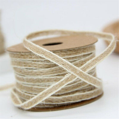 10M/Roll Natural Jute Burlap Hessian Ribbon Lace Trims Tape Rustic Wedding Decor 8