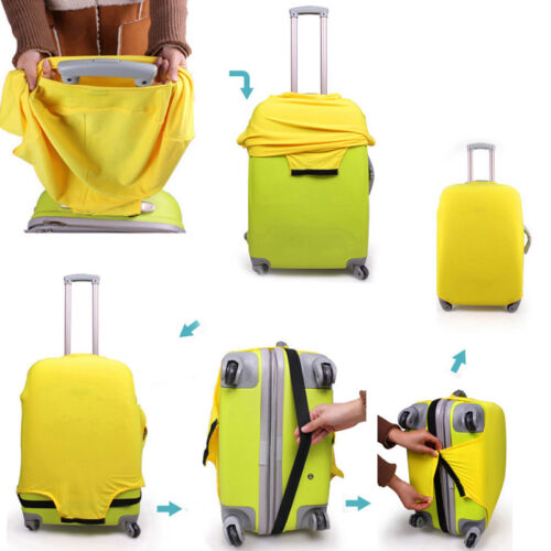 NEW Elastic Luggage Suitcase Dust Cover Dustproof Protector Anti Scratch Travel 4
