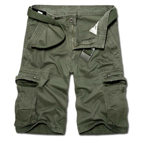 Mens Army Cargo Shorts Work Camping Fishing Camouflage Outdoor Pants Trousers 4