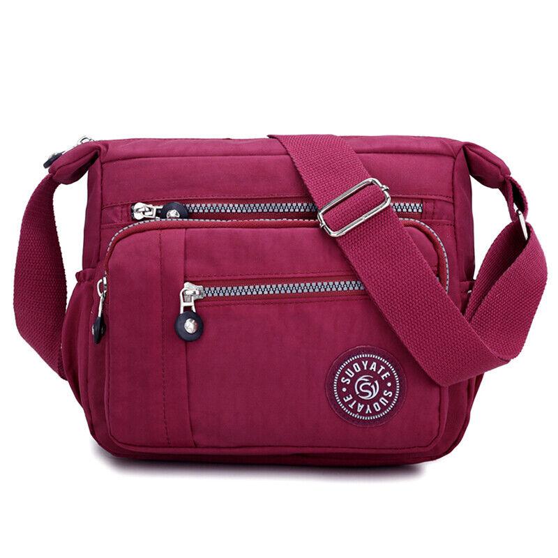 Women Canvas Handbag Pocket Shoulder Bag Travel Messenger Crossbody JJ 2