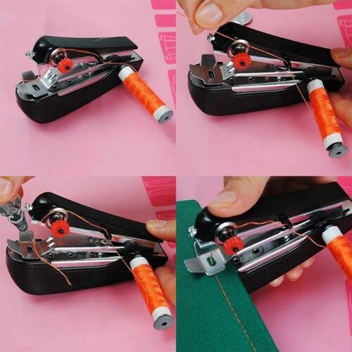 Mini macchina da cucire a mano portatile cordless tessuto portatile WQQ 3