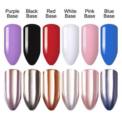 Mirror Effect Shiny Silver Nail Art Powder Chrome Pigment Dust Decor BORN PRETTY 2