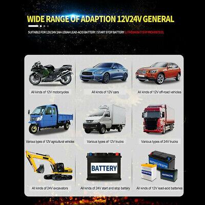 8 Amp Intelligent Car Battery Charger Pulse Repair Starter 12V/24V AGM/GEL UK 6