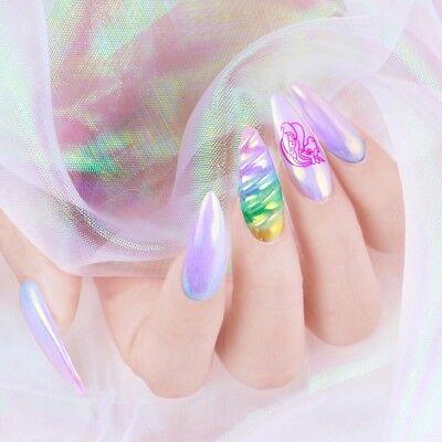 3 Of 11 AURORA Extra Smooth UNICORN Nail Powder 4 Colors CHROME Mirror Effect Nails UK