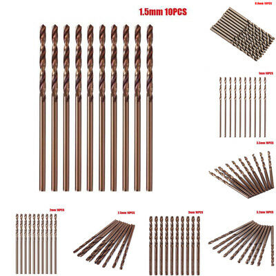 10Stk. M35 HSS Spiralbohrer Satz/Set 1,0-3,5mm Werkzeug Set Metallbohrer bohrer