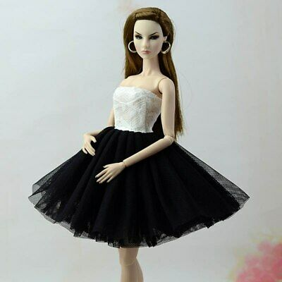 Fashion Summer Dress For 11.5in Doll Short Ballet Dresses For 1/6 Doll Clothes 10