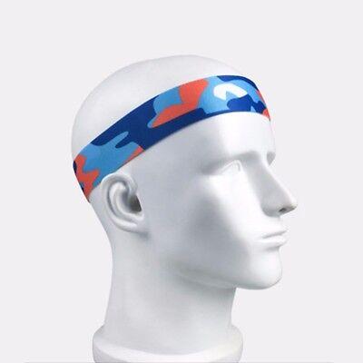Womens Mens Sports Sweat Sweatband Headband Yoga Gym Fitness Stretch Head Band 10