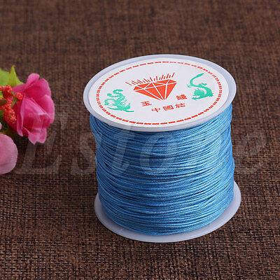 0.8mm Nylon Cord Thread Chinese Knot Macrame Rattail Bracelet Braided String 45M 5