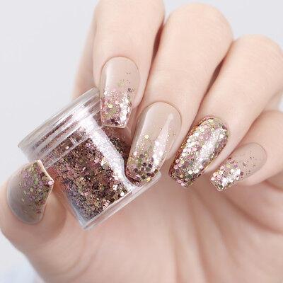 3D  Polvere Glitter Sequins Decorazione per Unghie Paillettes Nail Art 10