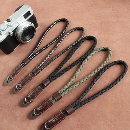 Black Mirrorless Digital Camera Wrist Hand Strap Soft Cotton Linen Weaved Strap