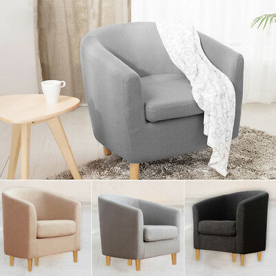 Big Small Linen Tub Single Sofa Chair Footrest Bedroom Dining Room