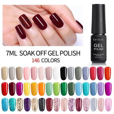 7ml LILYCUTE Nail Art Vernis à Ongles Semi-permanent UV Gel Polish DIY 146Colors 5