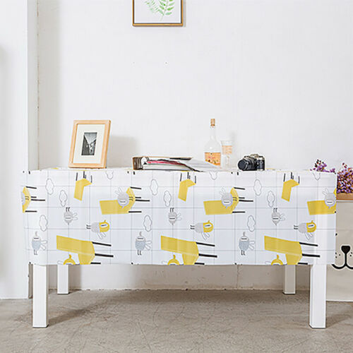 Tablecloth Waterproof Rectangular Printed Table Cloth Cover Kitchen Decor 6A 9