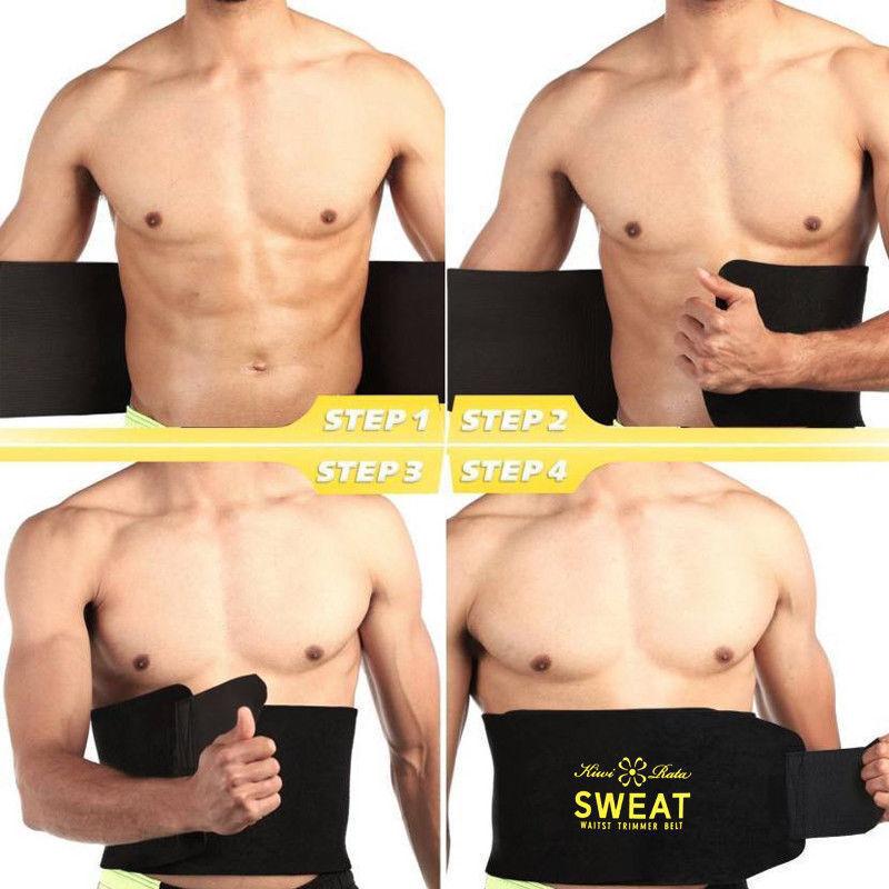 Hot Men's Neoprene Sauna Shapewear Sweat Belt Waist Cincher Trainer Body Shaper 10