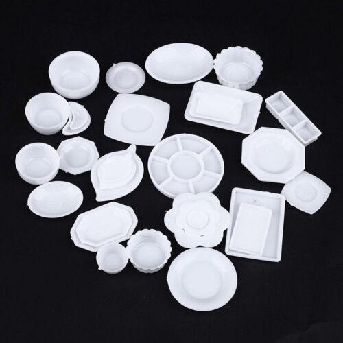 33pcs/Set Dollhouse Miniature Tableware Plastic Plate Dishes Set Mini Food 2017 3