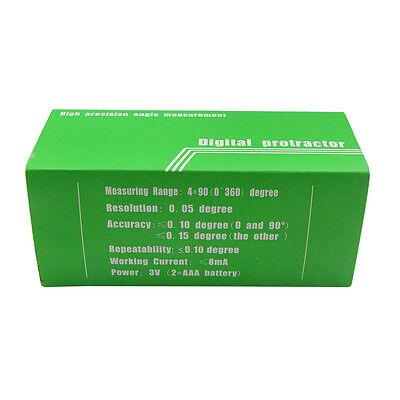 Digital Bevel Box Protractor Angle Measure Inclinometer Angle Gauge Meter Finder 12