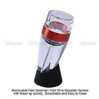 Quick Aerating Pourer Decanter Red Wine Mini Travel Aerator Essential Tool Set 2
