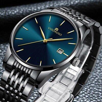 Men's Waterproof Military Sport Date Analog Quartz Wrist Watch Business Watches 11