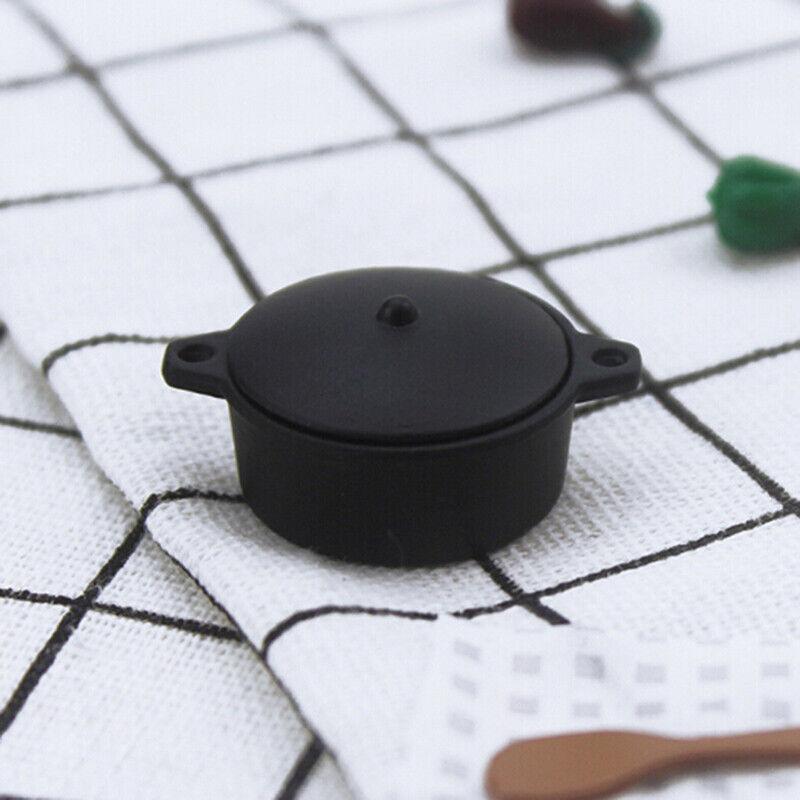 1:12 Dollhouse Miniature Mini Black Pot Model Kitchen Accessories T pzB0US 6