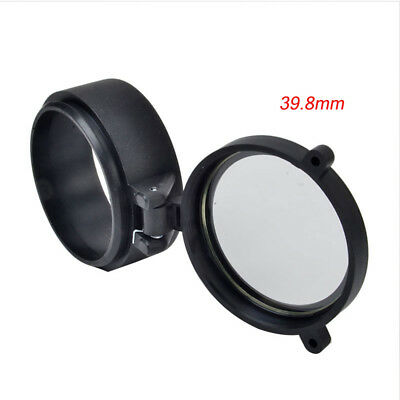 Rifle Scope Quick Flip Spring Up Open Gun Lens Cover See-thru Objective Cap 12