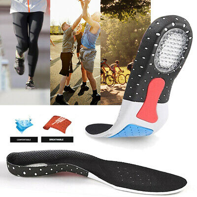 Men Gel Orthotic Sport Running Insoles Insert Shoe Pad Arch Support Cushion UK 2