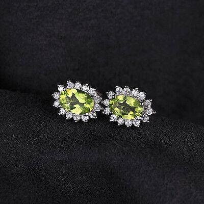 Jewelrypalace Princess 5.6ct Natural Peridot Jewelry Sets 925 Sterling Silver