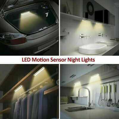 10 LED PIR Motion Sensor LED Night Light Battery Operated with Magnetic Strip 4