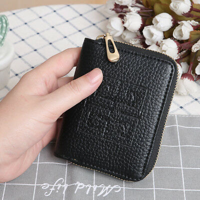 Women Lady Leather Bifold Wallet Zipper Clutch Card Holder Purse Mini Handbag 2