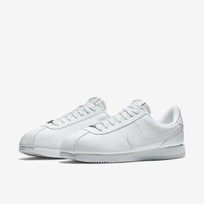 finest selection 53afe 098b8 NIKE CORTEZ BASIC Leather Triple White 819719-110 Men's Shoes Multi Size NEW